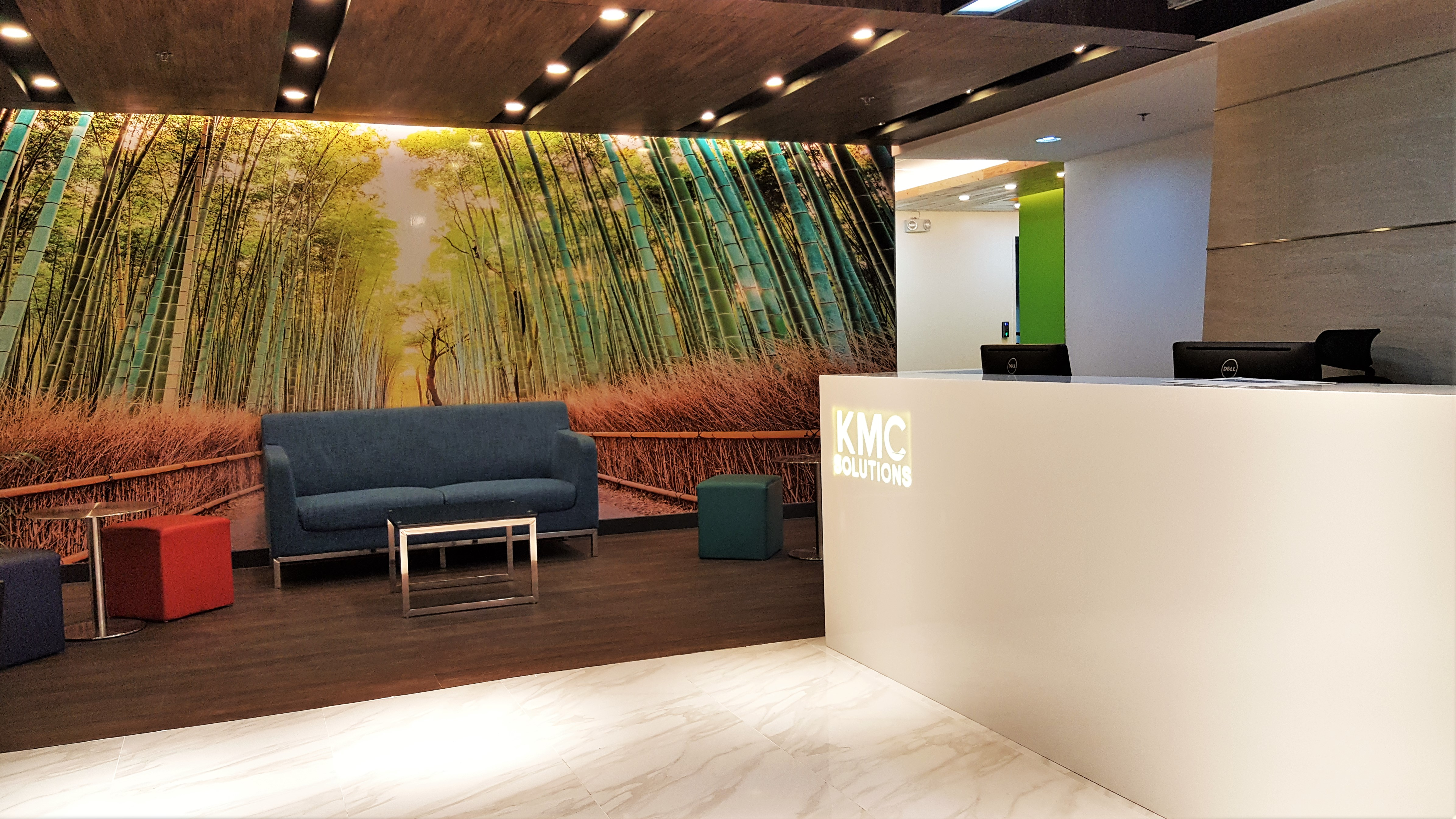 KMC Reception Area at V Corporate Centre Office in Makati