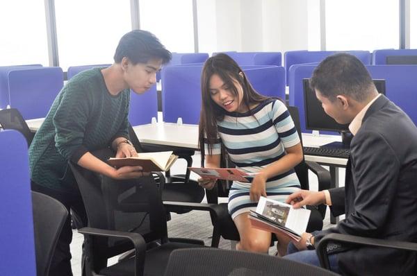 Team Discussion at KMC Sheridan, Mandaluyong
